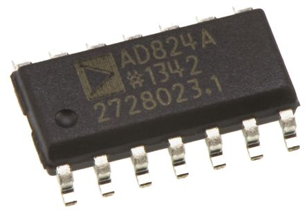 Analog Devices AD824ARZ-14 , Op Amp, RRO, 2MHz, 5 → 28 V, 14-Pin SOIC