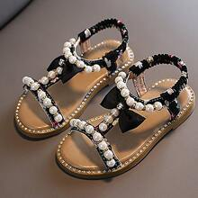 Toddler Girls Faux Pearl Decor Sandals