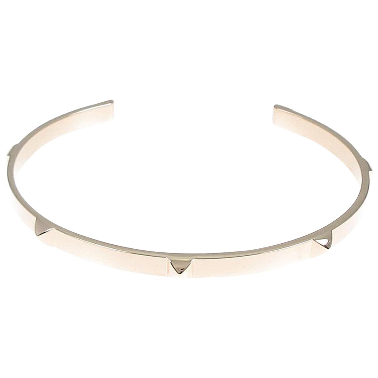 Hermes - Bracelet   pour femme en metal - argente