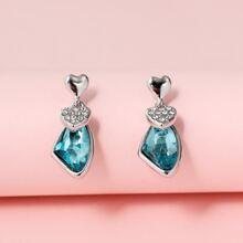 Rhinestone Inlaid Drop Earrings