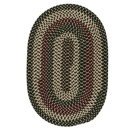 Colonial Mills Brook Farm Reversible Braided Indoor or Outdoor Oval Rug, One Size , Green