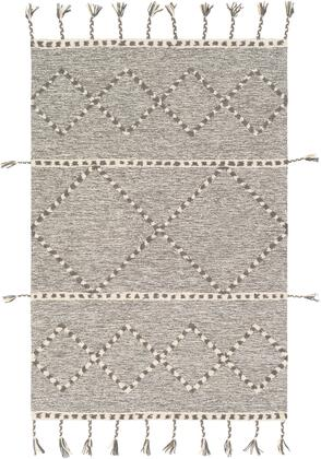 Zanafi Tassels ZTS-2300 8' x 10' Rectangle Global Rugs in Medium Gray