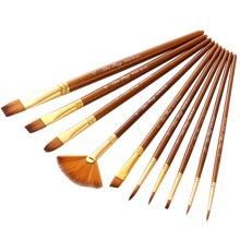 10pcs Wooden Handle Paintbrush