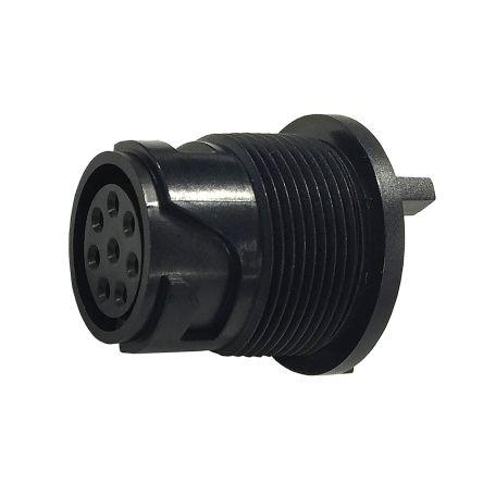 Bulgin Connector, 8 contacts PCB Mount Miniature Socket, Solder IP66, IP68, IP69K