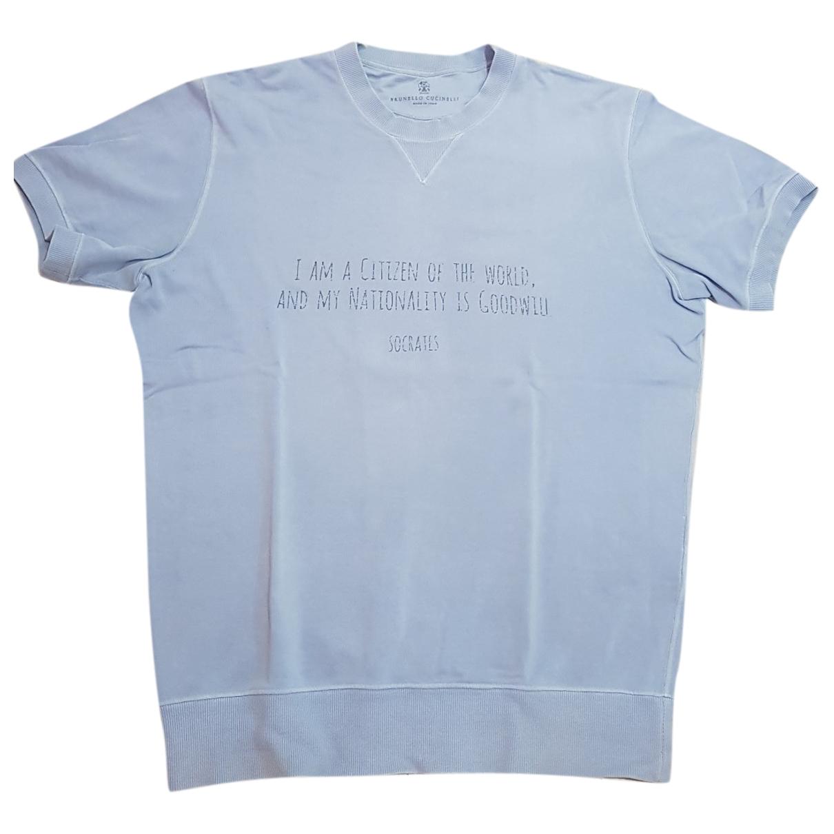 Brunello Cucinelli \N Pullover.Westen.Sweatshirts  in  Tuerkis Baumwolle