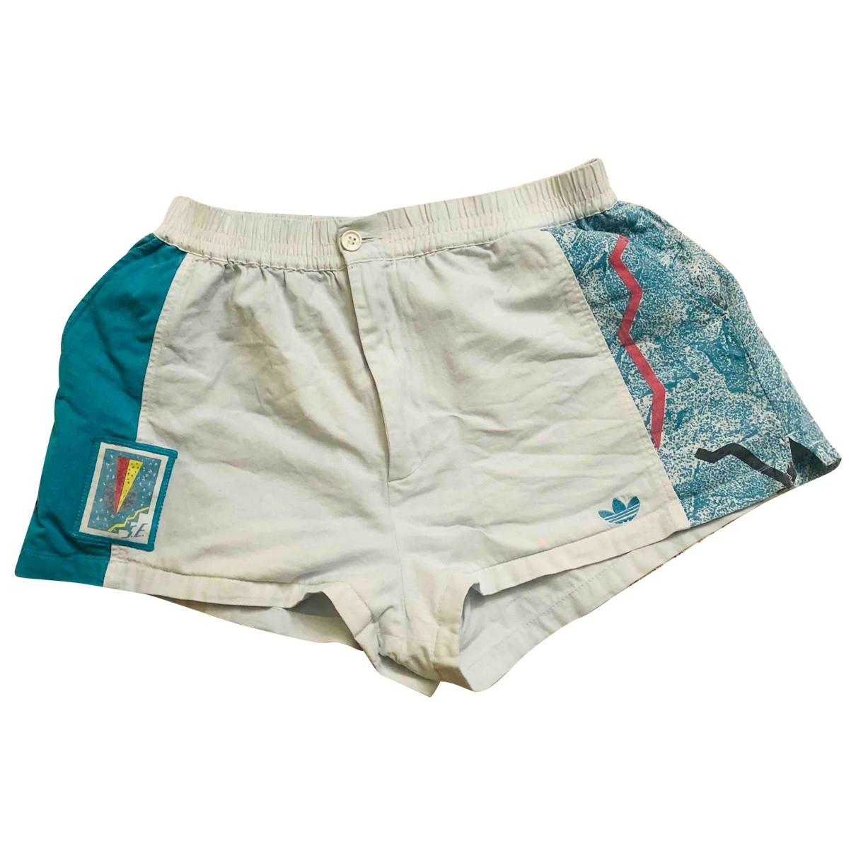 Adidas \N White Cotton Shorts for Men 50 IT