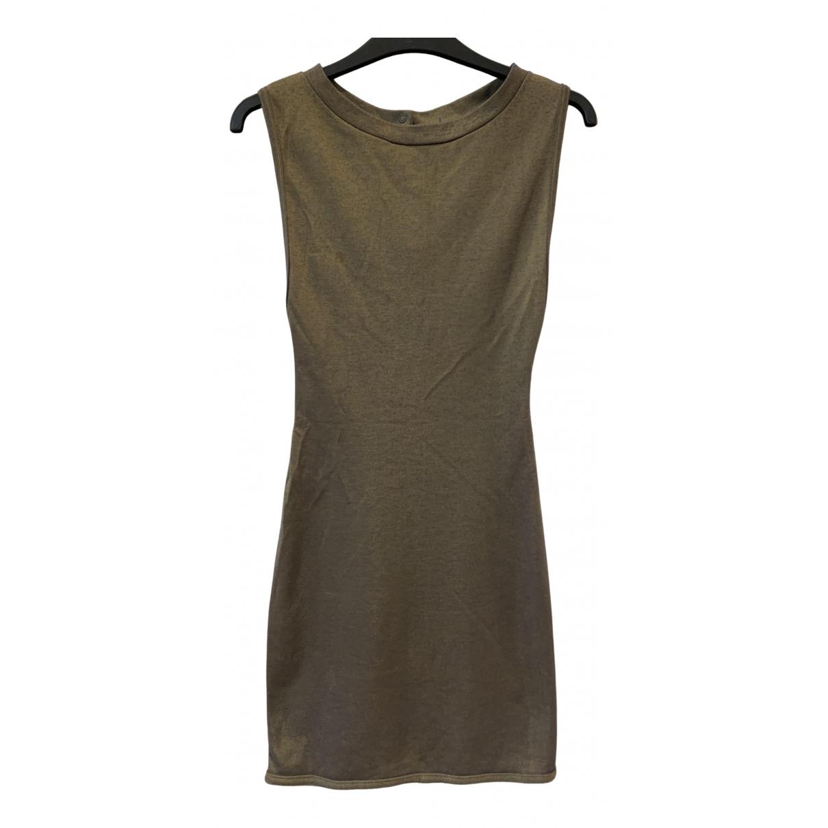 Alaia \N Kleid in  Metallic Viskose