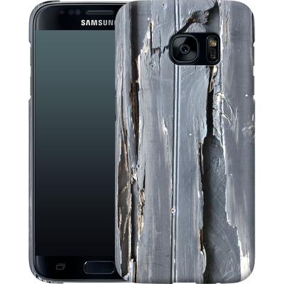 Samsung Galaxy S7 Smartphone Huelle - Wood Black Fence von Brent Williams