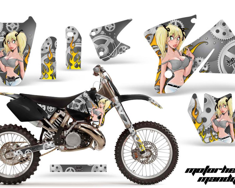 AMR Racing Dirt Bike Decal Graphic Kit Sticker Wrap For KTM SX/XC/EXC/MXC 1998-2001áMOTO MANDY SILVER