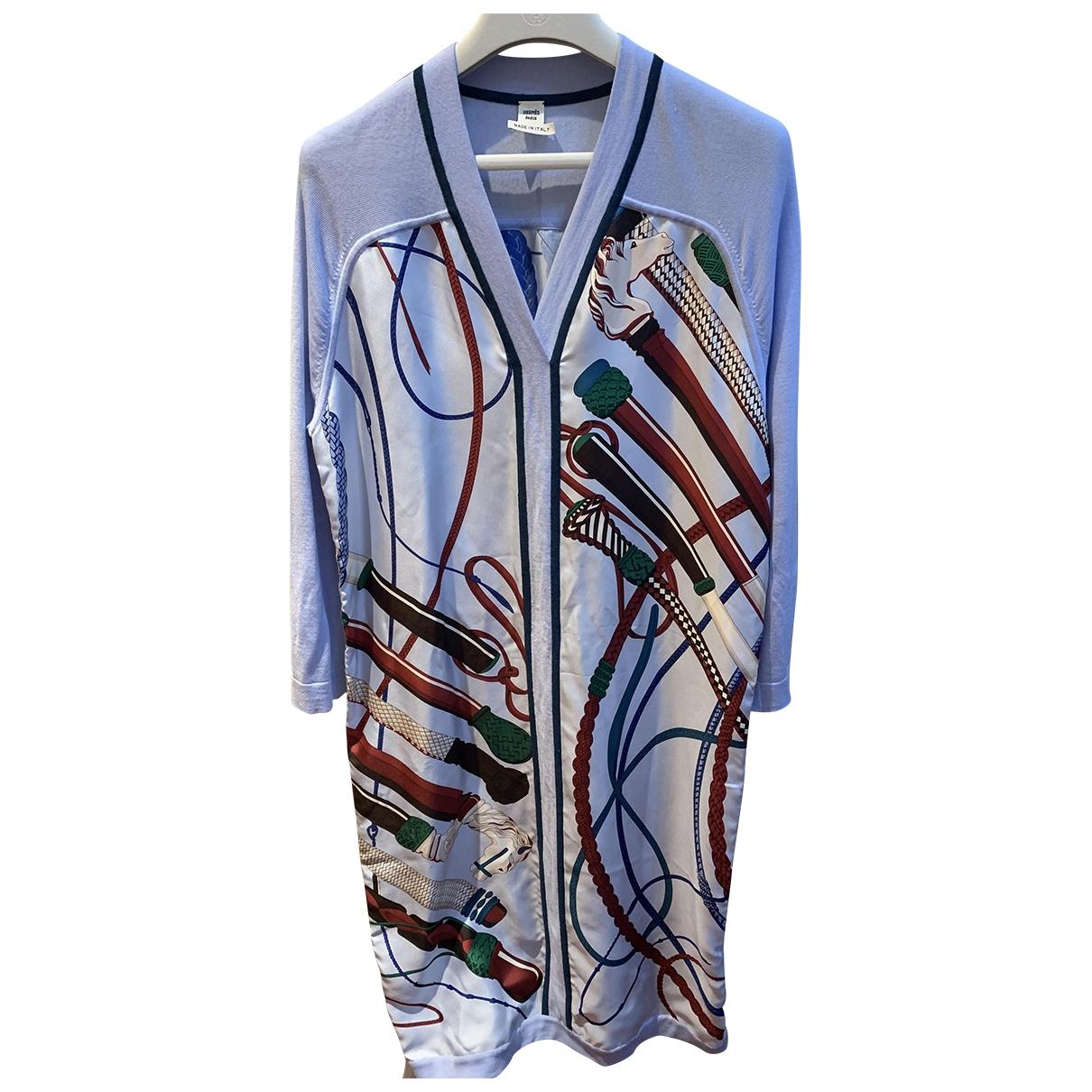 Hermès \N Blue Silk dress for Women 32 FR