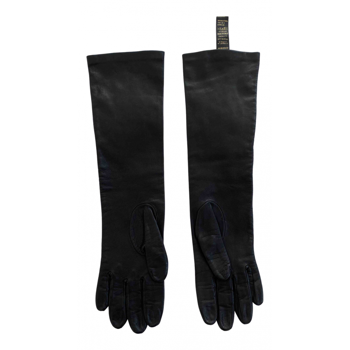 Elisabetta Franchi \N Handschuhe in  Schwarz Leder