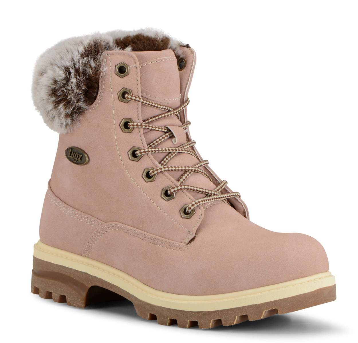 Women's Empire Hi Fur 6-Inch Boot (Choose Your Color: SOFT PINK/BONE/GUM, Choose Your Size: 6.5)