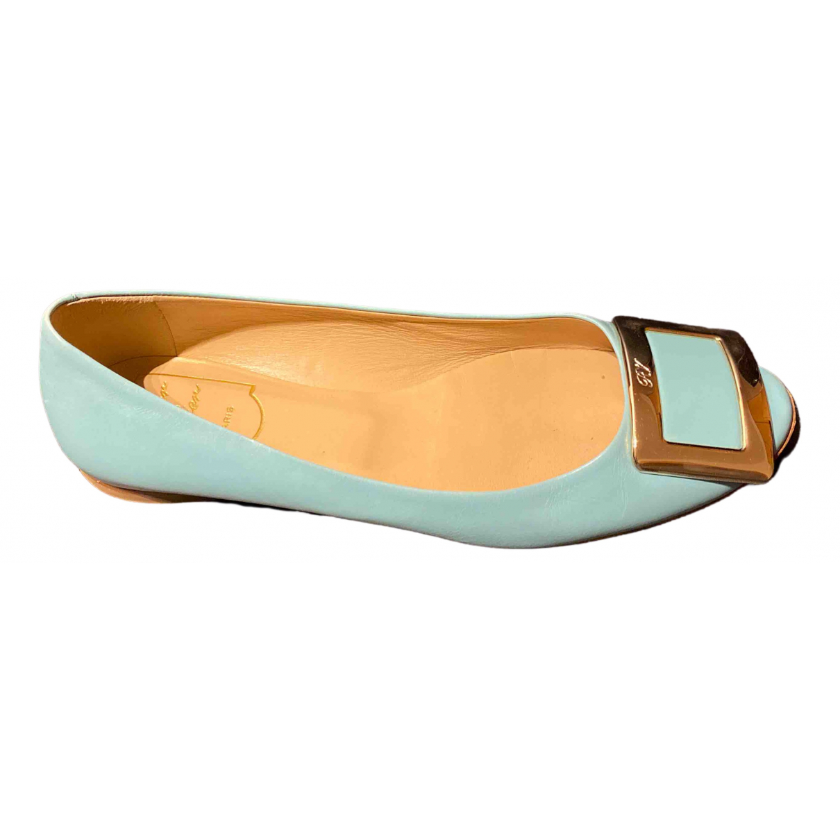 Roger Vivier \N Blue Leather Ballet flats for Women 36.5 IT