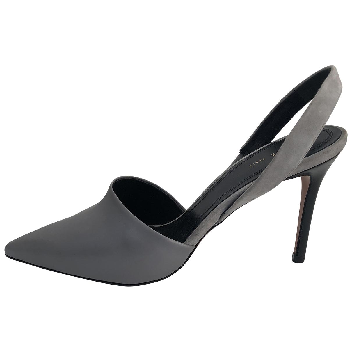 Celine - Escarpins   pour femme en cuir - gris