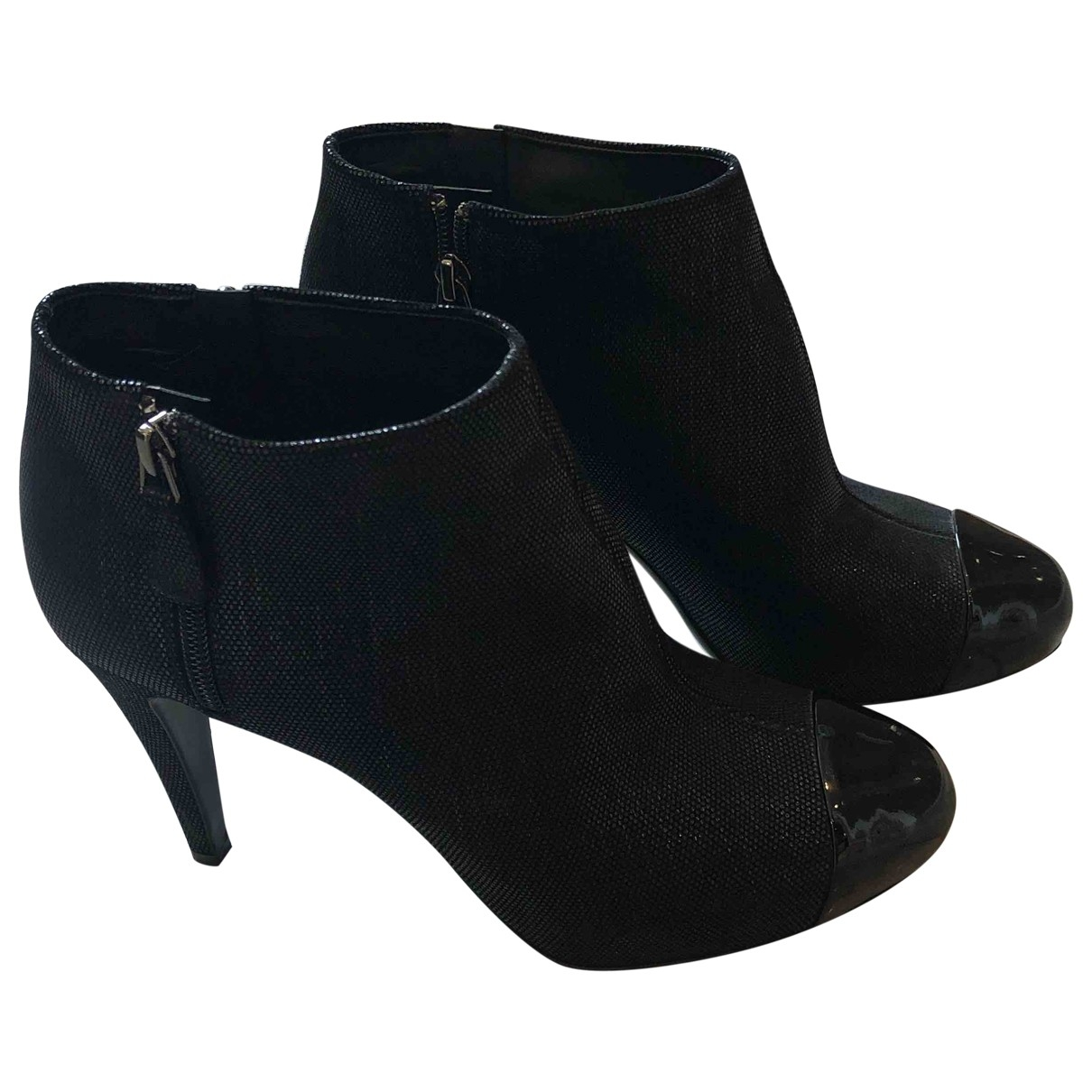 Chanel \N Black Cloth Ankle boots for Women 41 EU