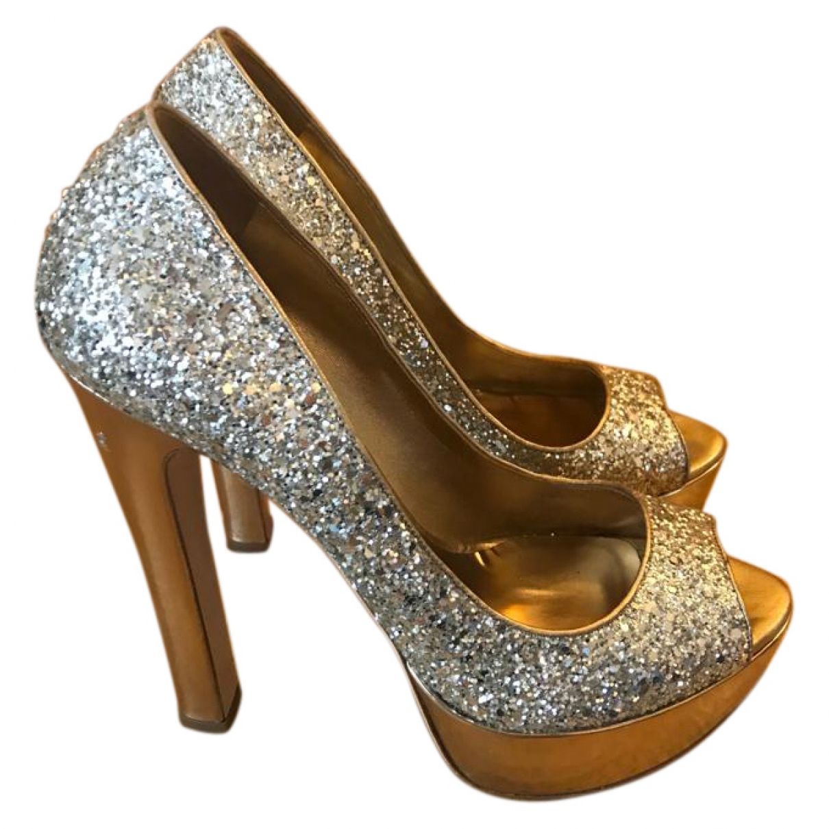 Miu Miu \N Gold Glitter Heels for Women 39 EU