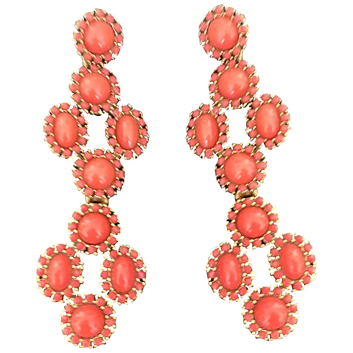 - Boucles doreilles Art Deco pour femme en metal - rouge