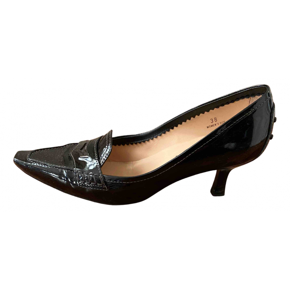 Tod's N Black Patent leather Heels for Women 38 IT
