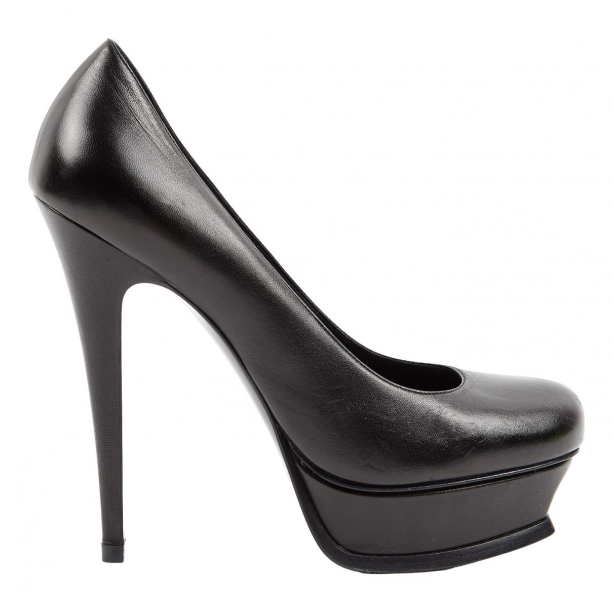 Yves Saint Laurent - Escarpins Trib Too pour femme en cuir - noir
