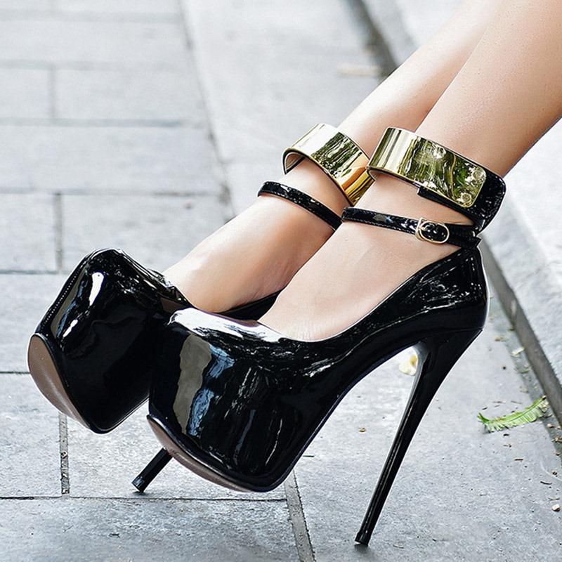 Ericdress Sequin Platform Plain Stiletto Heel Women's Prom Shoes