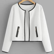 Ubergrosser Mantel mit Reissverschluss auf den Seiten