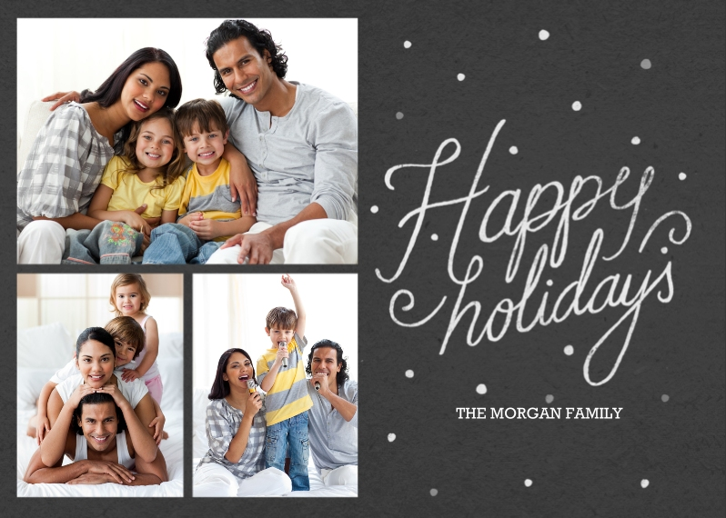 Holiday Photo Cards Flat Glossy Photo Paper Cards with Envelopes, 5x7, Card & Stationery -Happy Holidays Chalk