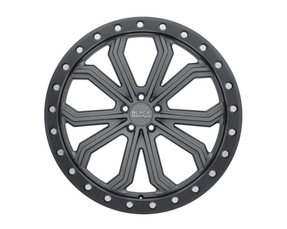 Black Rhino Trabuco Matte Gunmetal w/ Black Lip Edge & Silver Bolts Wheel 17x8 5x114.30|5x4.5 30mm CB76.1