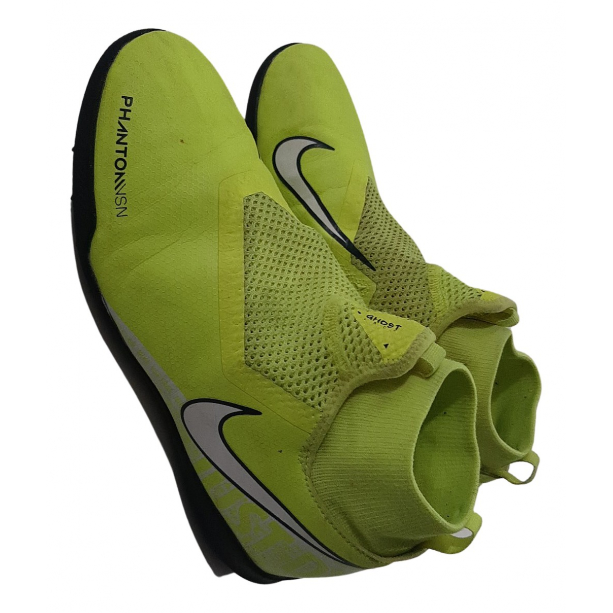 Nike - Bottes.Bottines   pour enfant en cuir - jaune