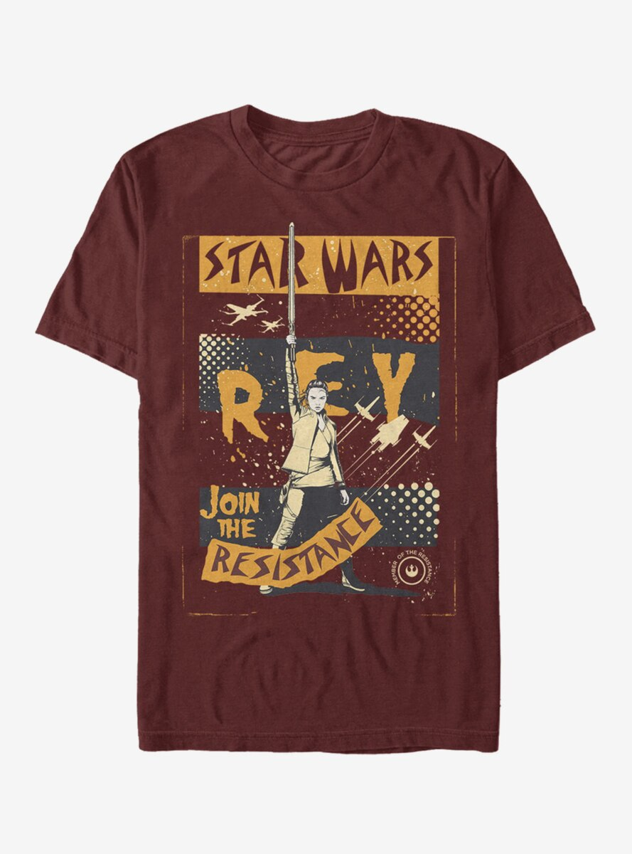 Star Wars: The Last Jedi Rey Join The Resistance T-Shirt