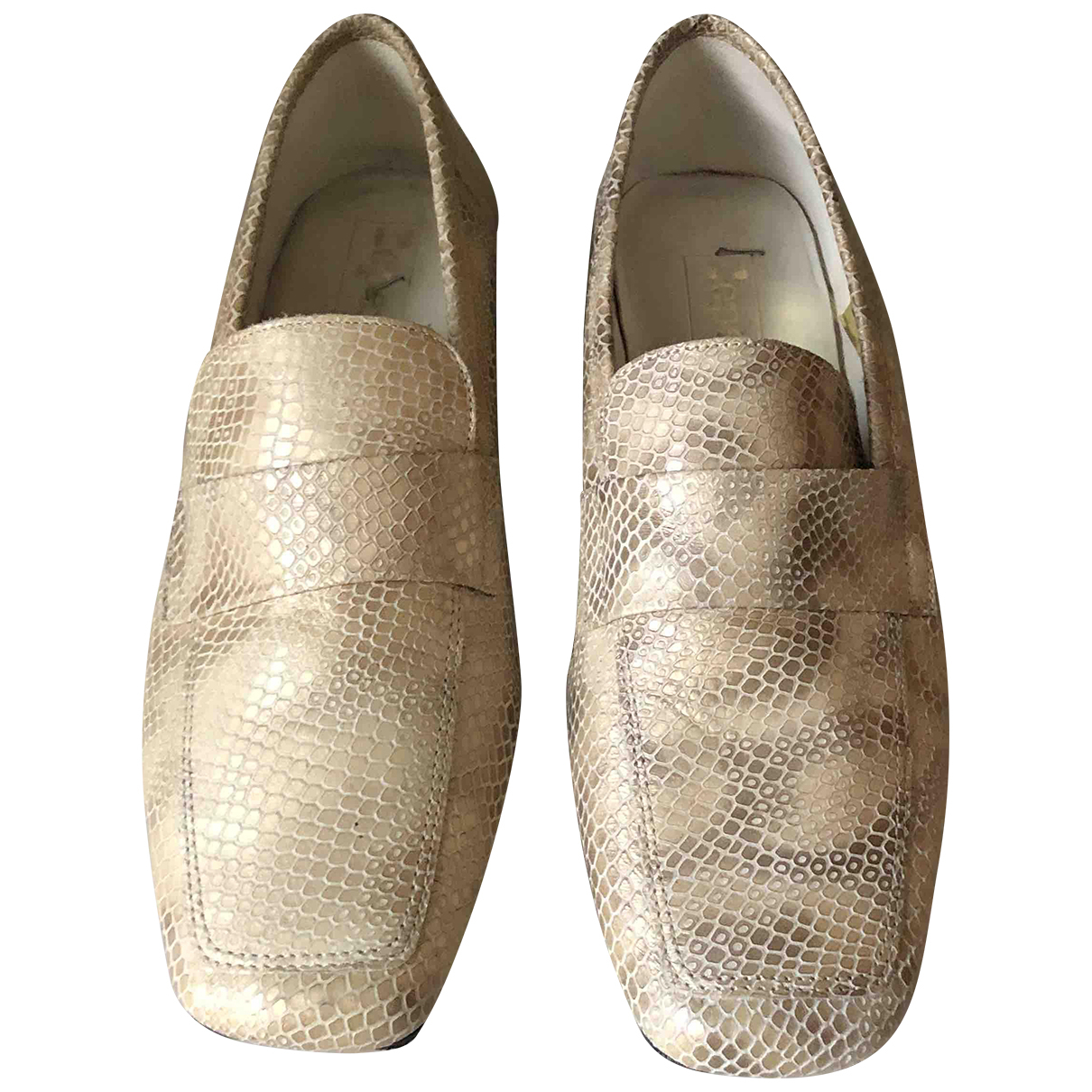 Repetto \N Mokassins in  Beige Python