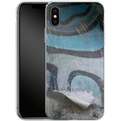 Apple iPhone X Silikon Handyhuelle - Texture Pacificwall von Brent Williams