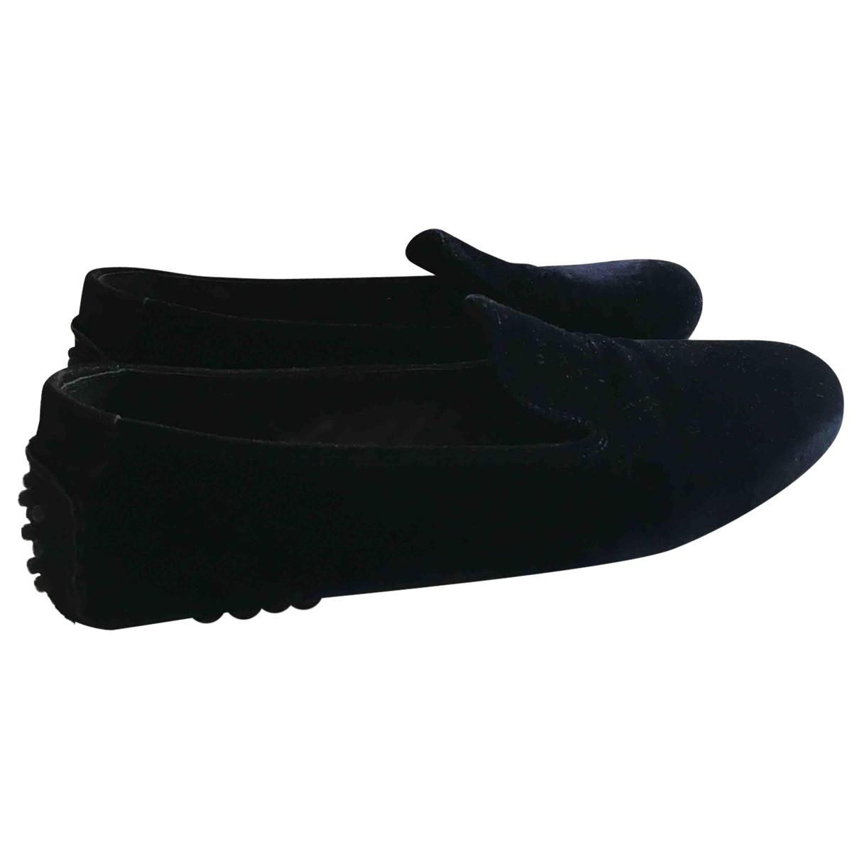 Carshoe \N Blue Velvet Flats for Women 37.5 EU