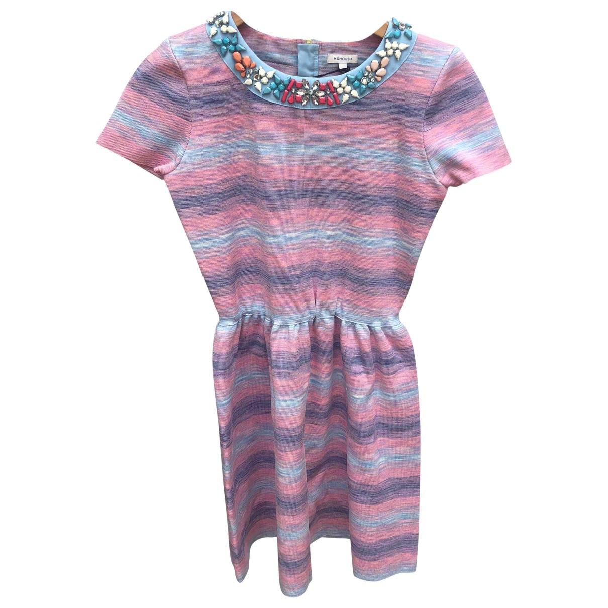 Manoush \N Pink Cotton - elasthane dress for Women 36 FR