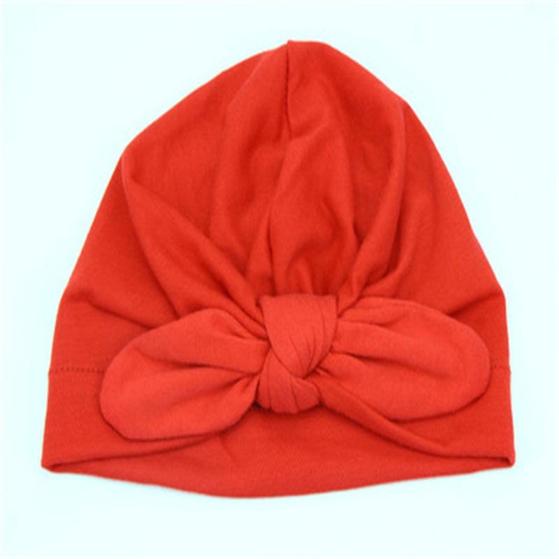 Bowknot Decoration Simple Style Pure Color Cotton Kids Hat