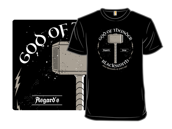 God Of Thunder Blacksmith T Shirt