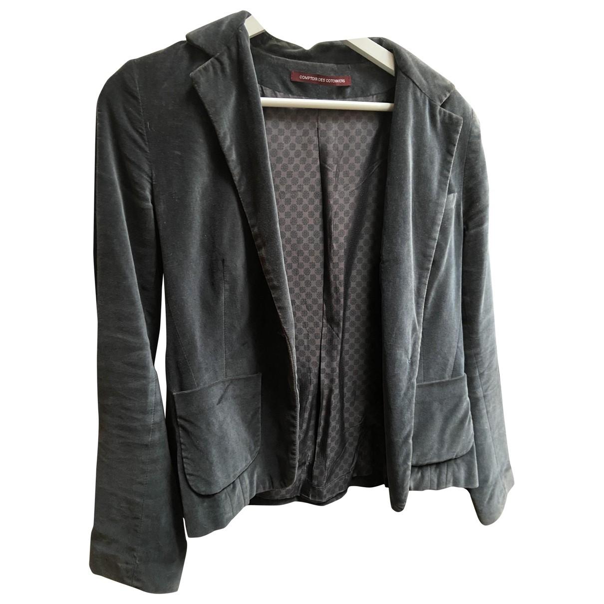 Comptoir Des Cotonniers \N Khaki Velvet jacket for Women 38 FR