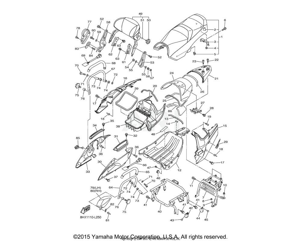 Yamaha OEM 8HF-2475H-00-00 BRACKET, SEAT LEVER 1