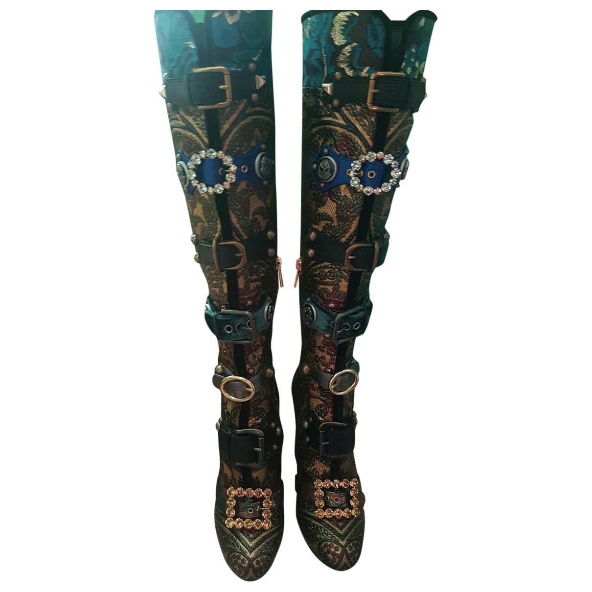Dolce & Gabbana \N Stiefel in  Tuerkis Samt