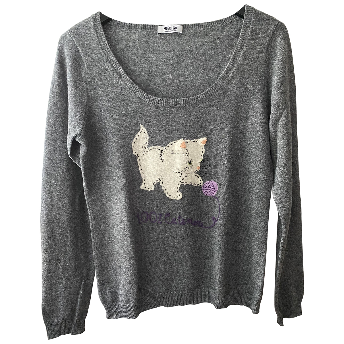 Moschino Cheap And Chic N Grey Cashmere Knitwear for Women 46 IT