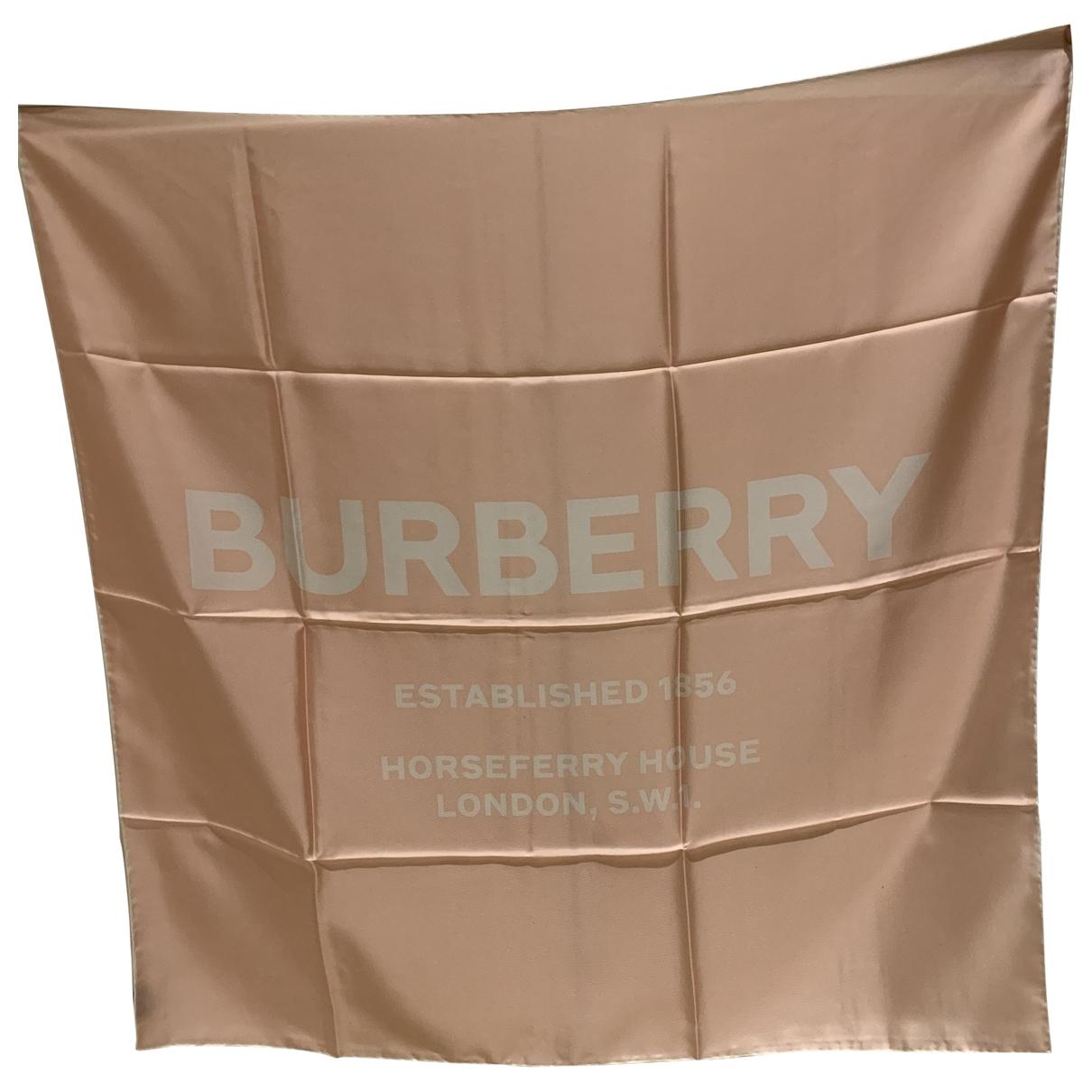 Burberry \N Schal in  Rosa Seide
