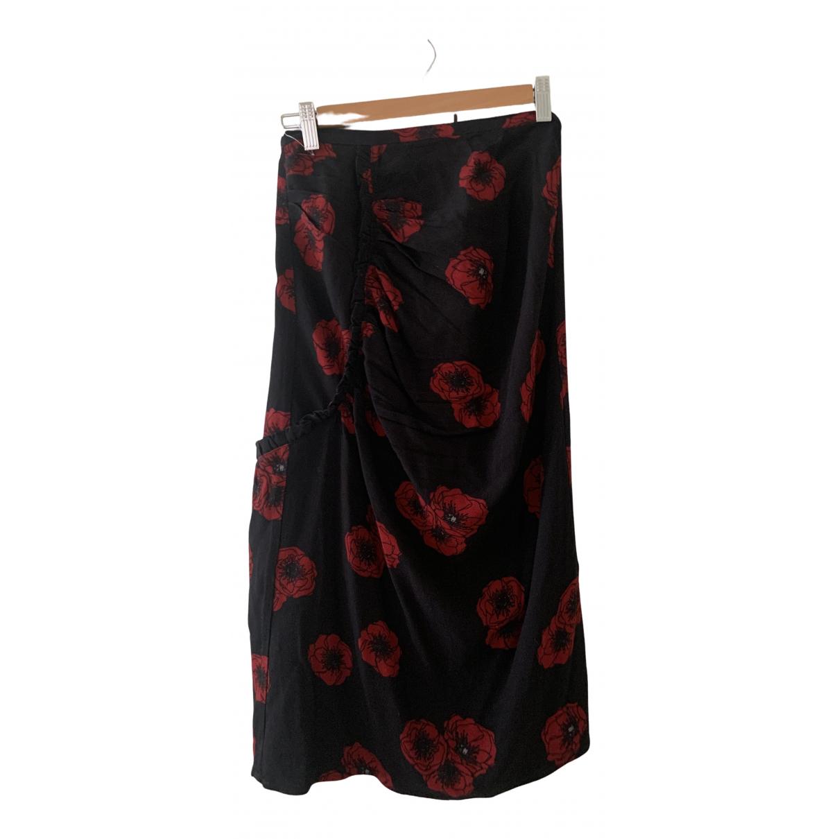 Rouje \N Black Cotton skirt for Women 36 FR