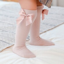 Baby Bow Decor Knee High Socks