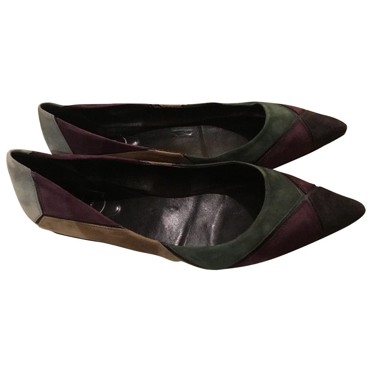 Roger Vivier \N Multicolour Suede Ballet flats for Women 40.5 EU