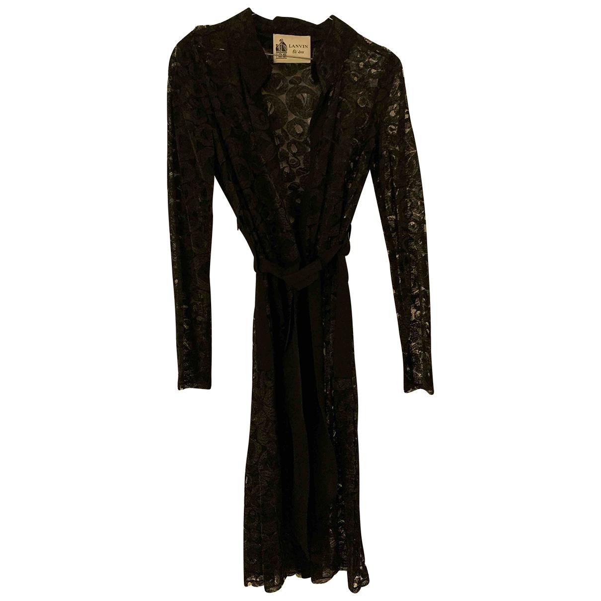 Lanvin \N Kleid in  Schwarz Spitze
