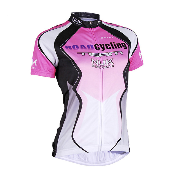 Female Purple Streamline Full Zipper Breathable Quick-Dry Cycling Jersey