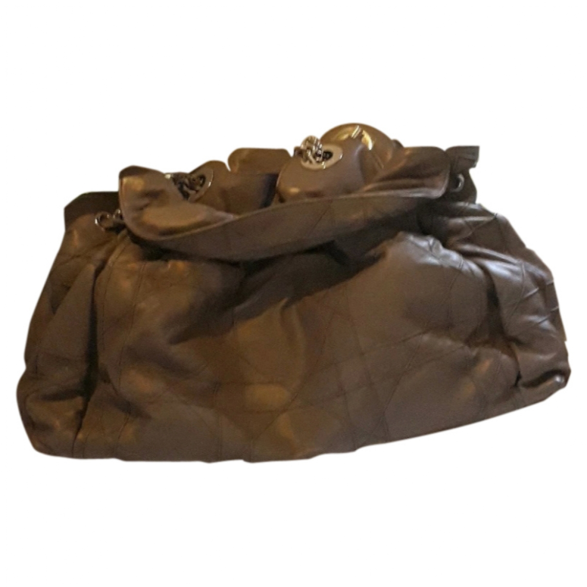 Dior Le Trente Anthracite Leather handbag for Women \N