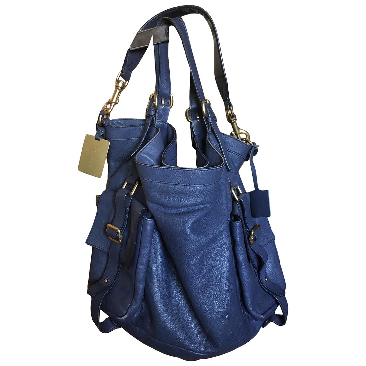 Escada \N Handtasche in  Blau Leder