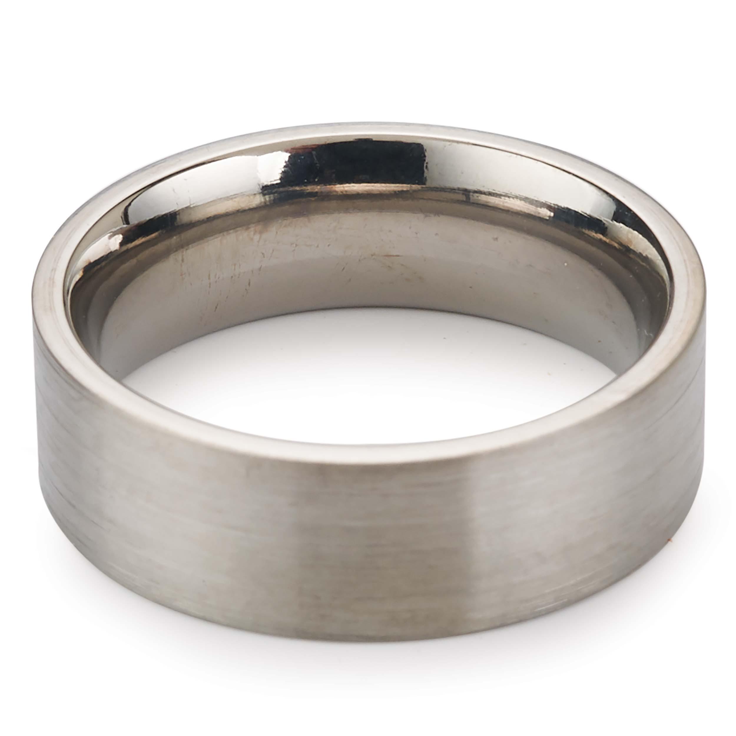 Comfort Ring Core - 64AL-4V Titanium - 6mm, Size 8