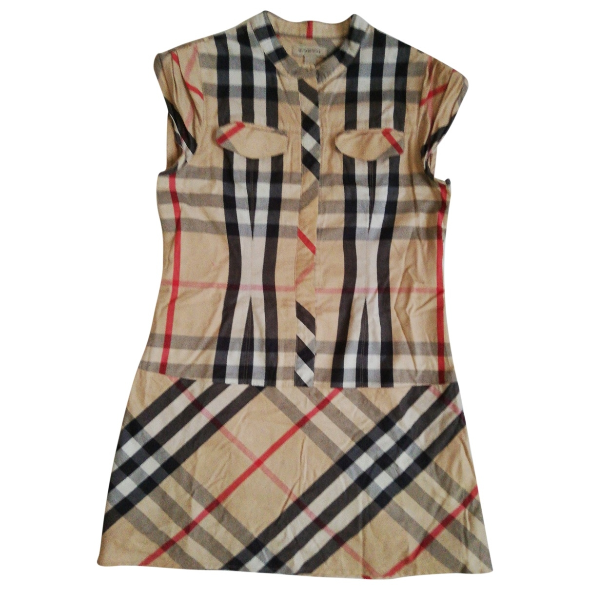 Burberry \N Beige Cotton dress for Kids 10 years - up to 142cm FR