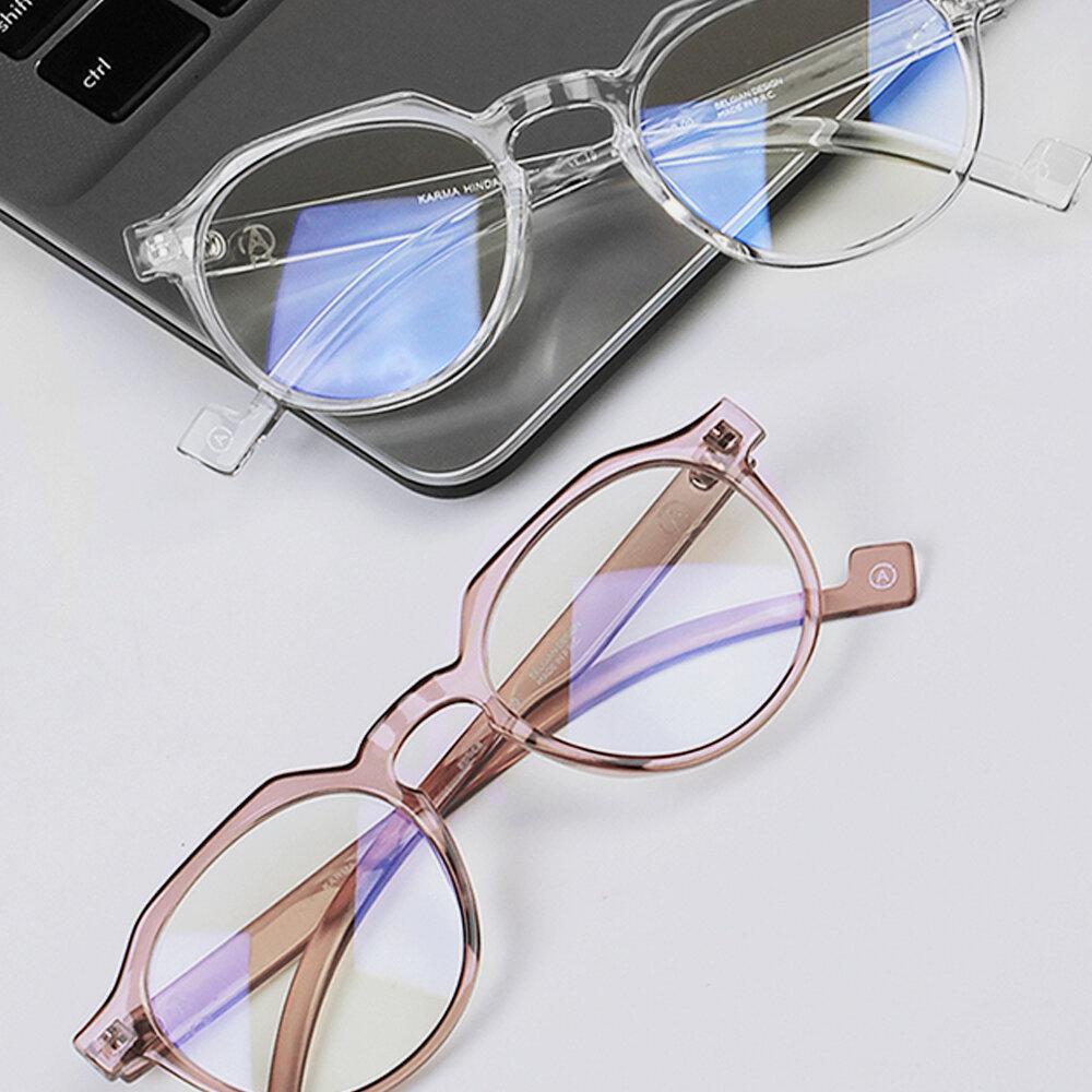 APTICA Anti-blueRound Frame Light Glasses Transparent Colored Frame